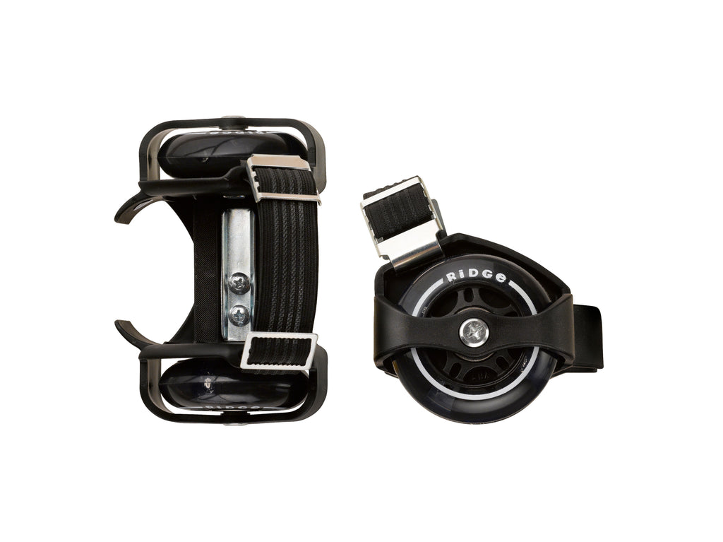 Ridge Heel Rollers: two-wheel rollers for your heels, w light up LED wheels, adjustable size
