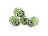 Ridge 59mm 78A PU Cruiser Skateboard Wheels w ABEC 7 Bearings Set of 4 in 17 colours