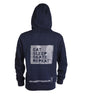 Ridge Eat, Sleep, Skate, Repeat Heavyweight Hoodie with thumb holes and phone pocket in Navy Blue