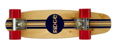 "Ridge 22"" Original Wooden Mini Maple Cruiser complete stripe board with a choice of 12 wheel colours"