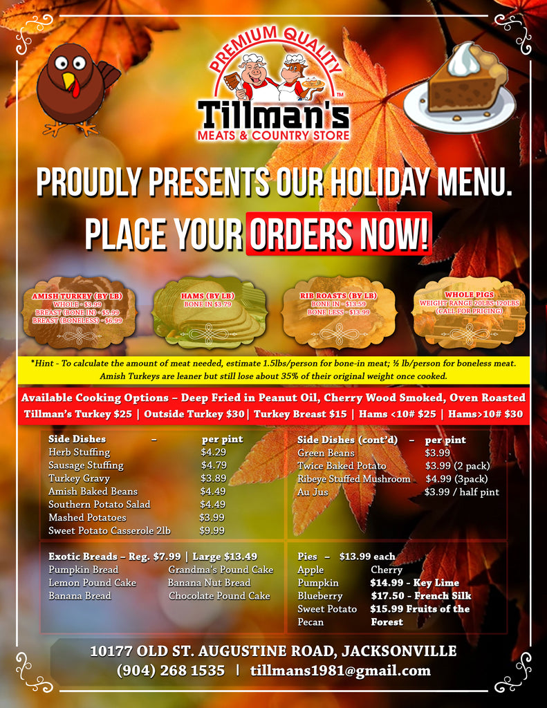 Holiday Order Flyer