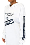 "Unisex White ""FINISH"" Long Sleeve Shirt"