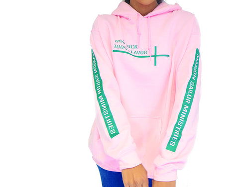 Pink and Green 100% Favor Hoodie