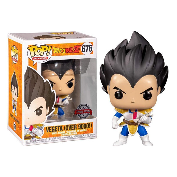 Funko Pop! Animation: Dragon Ball Z - Vegeta (Over 9000!) #676 - Special Edition