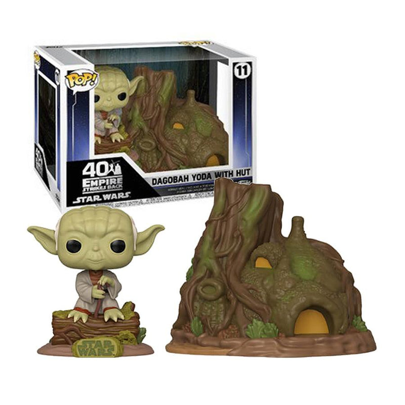 Funko Pop! Star Wars: Star Wars - Dagobah Yoda With Hut