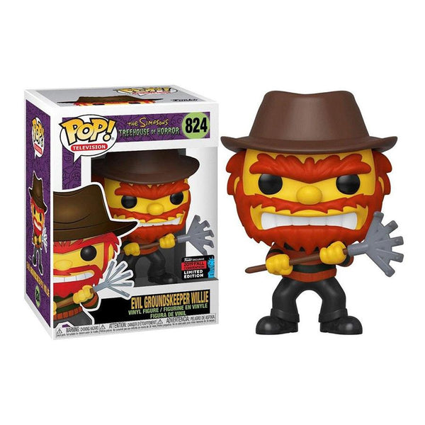 Funko Pop! Television: The Simpons Treehouse Of Horror - Evil Groundskeeper Willie #824 - 2019 Fall Convention Limited Edition