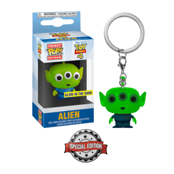 Funko Pop! Keychains: Toy Story 4 - Alien - Special Edition (Glow in the Dark)