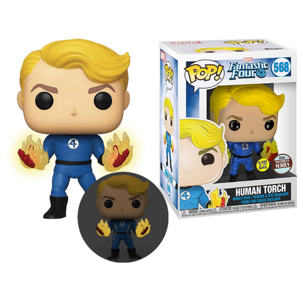 Funko Pop! Marvel: Fantastic Four - Human Torch #568 - Specialty Series (Glow in the Dark)