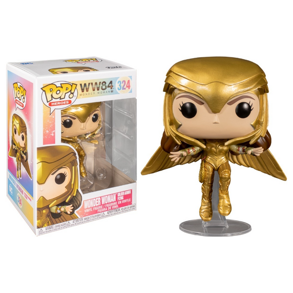 Funko Pop! Marvel: Wonder Woman 1984 - Wonder Woman Golden Armor Flying #324