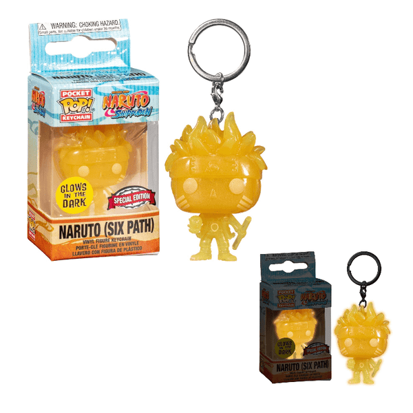 Funko Pop! Keychains: Naruto Shippuden - Naruto Six Path - Special Edition (Glow in the Dark)