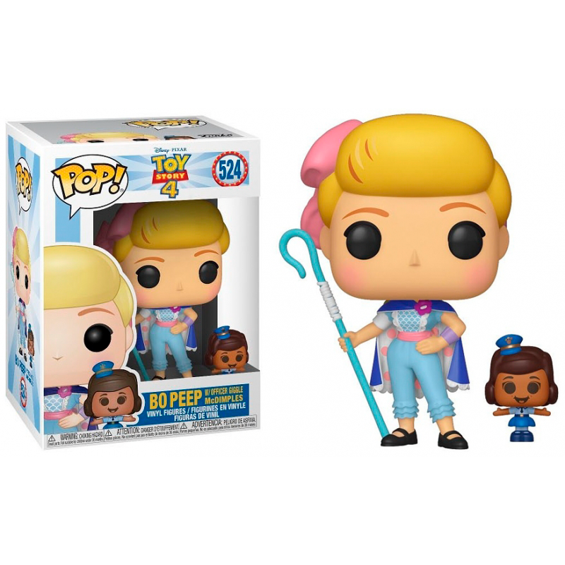 Funko Pop! Disney: Toy Story 4 - Bo Peep W/Officer Giggle Mcdimples