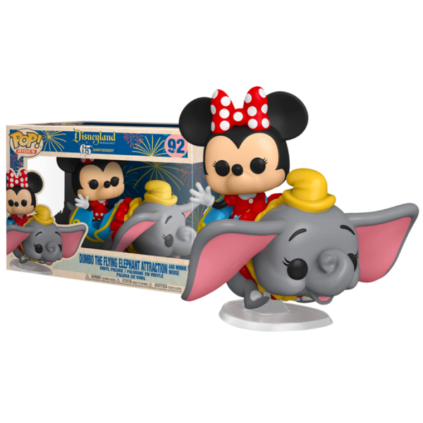 Funko Pop! Disney: Disneyland 65th Anniversary - Dumbo the Flying Elephant Attraction and Minnie Mouse