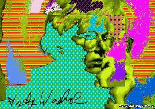 Warhol Works Recovered from Old Amiga disks