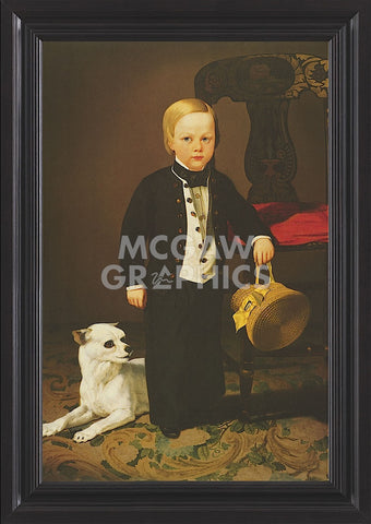 Charles Christian Nahl - Boy with Dog (Framed)