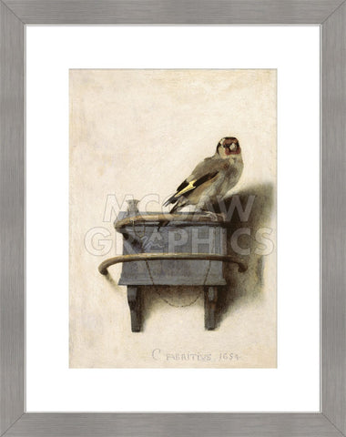 The Goldfinch, 1654 (Framed) -  Carel Fabritius - McGaw Graphics