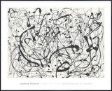 Number 14:  Gray  (Framed) -  Jackson Pollock - McGaw Graphics