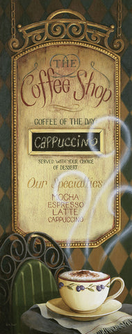 Coffee Shop menu -  Lisa Audit - McGaw Graphics