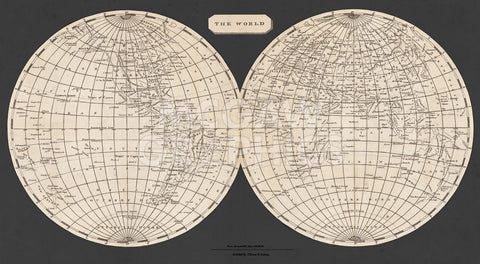Aaron Arrowsmith - Map of the World, 1812