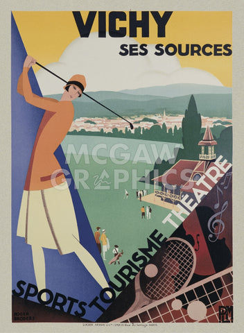 Vichy-Ses Sources -  Roger Broders - McGaw Graphics