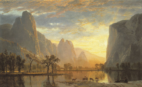 Valley of the Yosemite -  Albert Bierstadt - McGaw Graphics