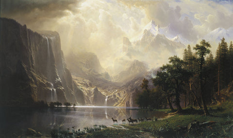 Among the Sierra Nevada, California, 1868 -  Albert Bierstadt - McGaw Graphics