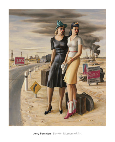 Oil Field Girls, 1940 -  Jerry Bywaters - McGaw Graphics