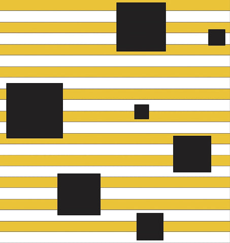 Black Block on Stripe -  Dan Bleier - McGaw Graphics