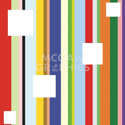 White Square on Stripe (detail) -  Dan Bleier - McGaw Graphics