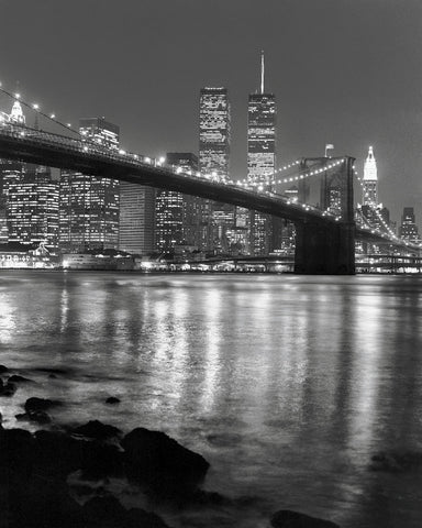 Brooklyn Bridge with World Trade Center -  Chris Bliss - McGaw Graphics