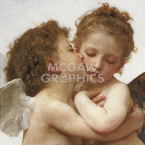 The First Kiss (detail) -  William-Adolphe Bouguereau - McGaw Graphics