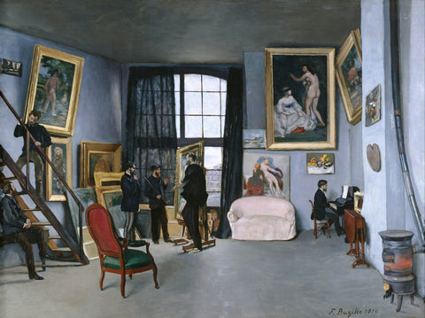 The Painter's Atelier in the rue de la Condamine, 1870 -  Frederic Bazille - McGaw Graphics