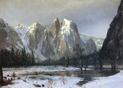 Cathedral Rock Yosemite -  Albert Bierstadt - McGaw Graphics