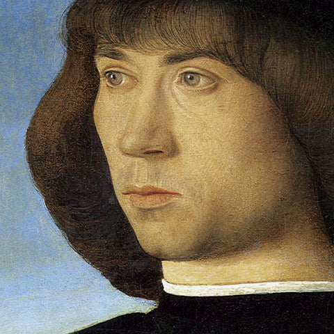 Portrait of a Young Man (detail) -  Giovanni Bellini - McGaw Graphics