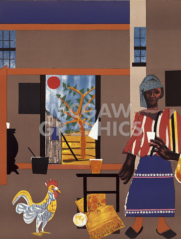 Romare Bearden - Morning of the Rooster, 1980