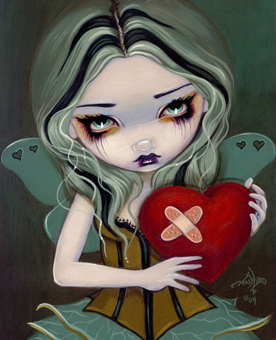 Jasmine Becket-Griffith art print SIGNED Heart of Nails dark angel heart gothic