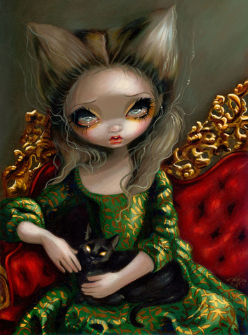 Jasmine Becket-Griffith - Princess with a Black Cat