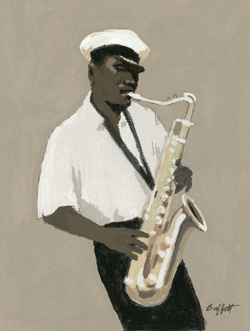 Tenor Saxophone Player -  William Buffett - McGaw Graphics