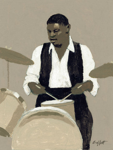 Jazz Drummer -  William Buffett - McGaw Graphics