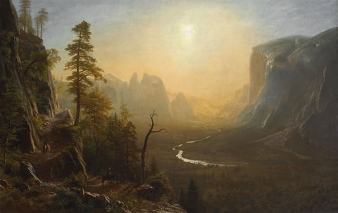 Albert Bierstadt - Yosemite Valley, Glacier Point Trail, ca. 1873