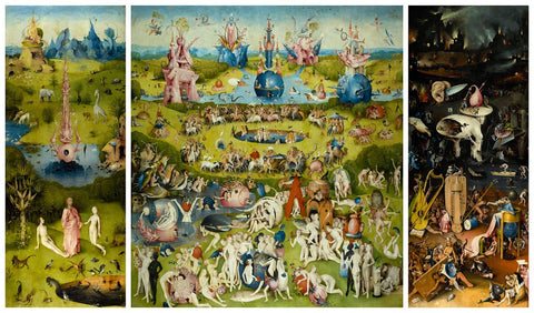 The Garden of Earthly Delights, 1490-1510 -  Hieronymus Bosch - McGaw Graphics