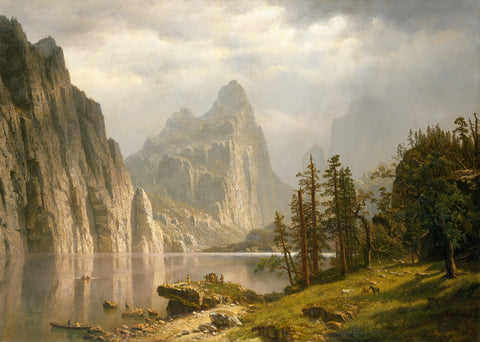 Merced River, Yosemite Valley, 1866 -  Albert Bierstadt - McGaw Graphics