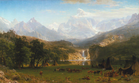 The Rocky Mountains, Lander's Peak, 1863 -  Albert Bierstadt - McGaw Graphics
