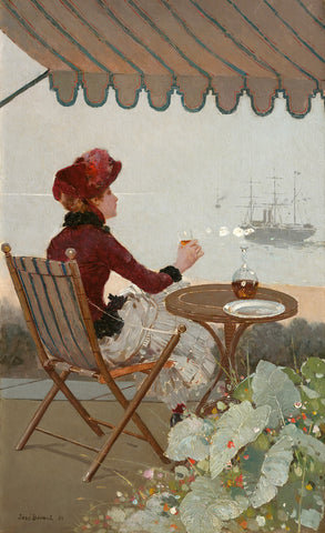 Seaside Cafe, 1884 -  Jean Beraud - McGaw Graphics