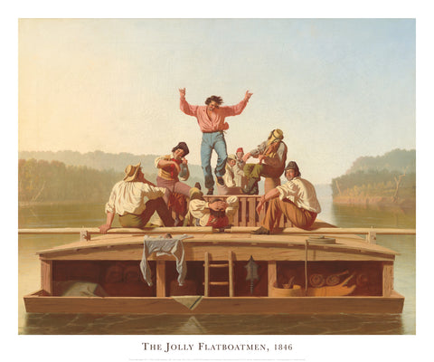 The Jolly Flatboatmen, 1846 -  George Caleb Bingham - McGaw Graphics