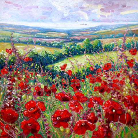 Poppies in a Sussex Meadow -  Gill Bustamante - McGaw Graphics