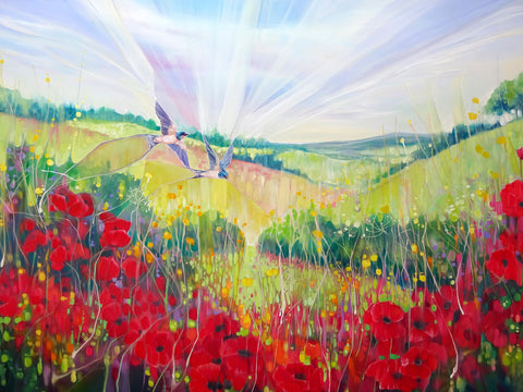 Summer on the South Downs -  Gill Bustamante - McGaw Graphics
