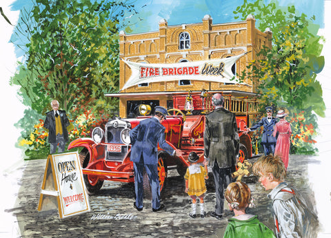 Fire Brigade -  William Biddle - McGaw Graphics