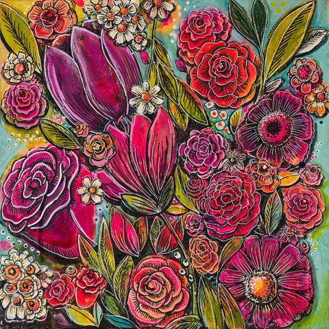Spanish Flowers 1 -  Cami Boyett - McGaw Graphics