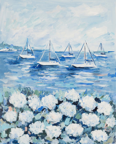 Hydrangeas on the Shore - McGaw Graphics