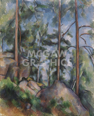 Pines and Rocks (Fontainebleau), c. 1897 -  Paul Cezanne - McGaw Graphics
